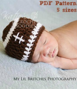 football-crochet-hat