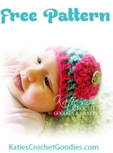 Free Flower Crochet Hat Pattern