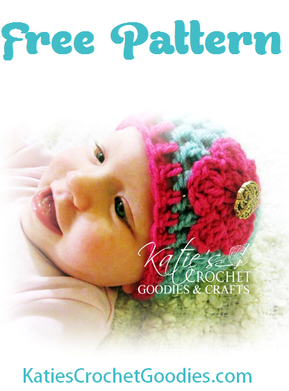Free Flower Crochet Hat Pattern Katies Crochet Goodies