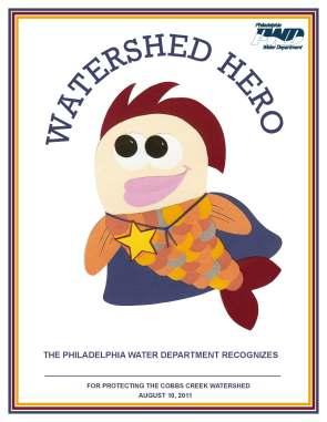 Finished Watershed Hero Award!