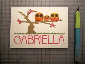 Full shot of Gabriella's artwork