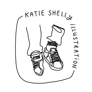 a line drawing of a pair of legs wearing sweatpants and sneakers
