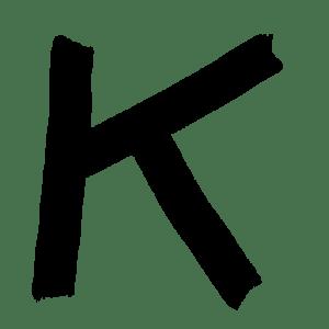 A black letter K