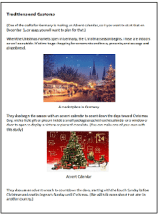 Christmas Traditions and Customs Germany sample page