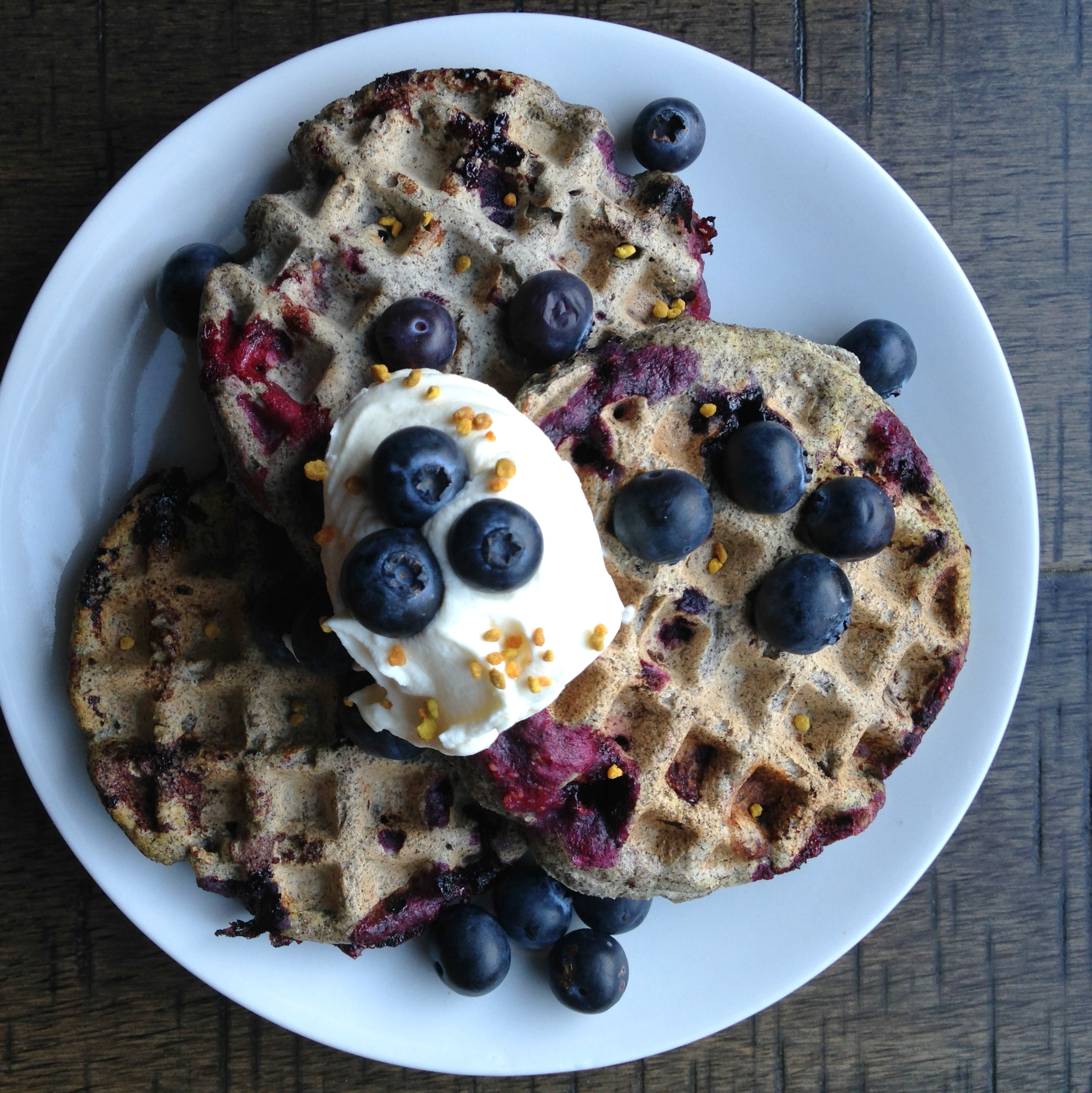 Blueberry Buckwheat Waffles