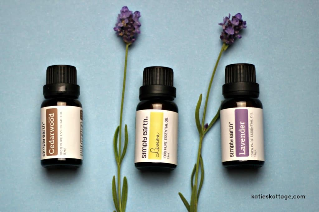 DIY Natural Bug Spray made with Simply Earth essential oils. Printable label for essential oils spray bottle.