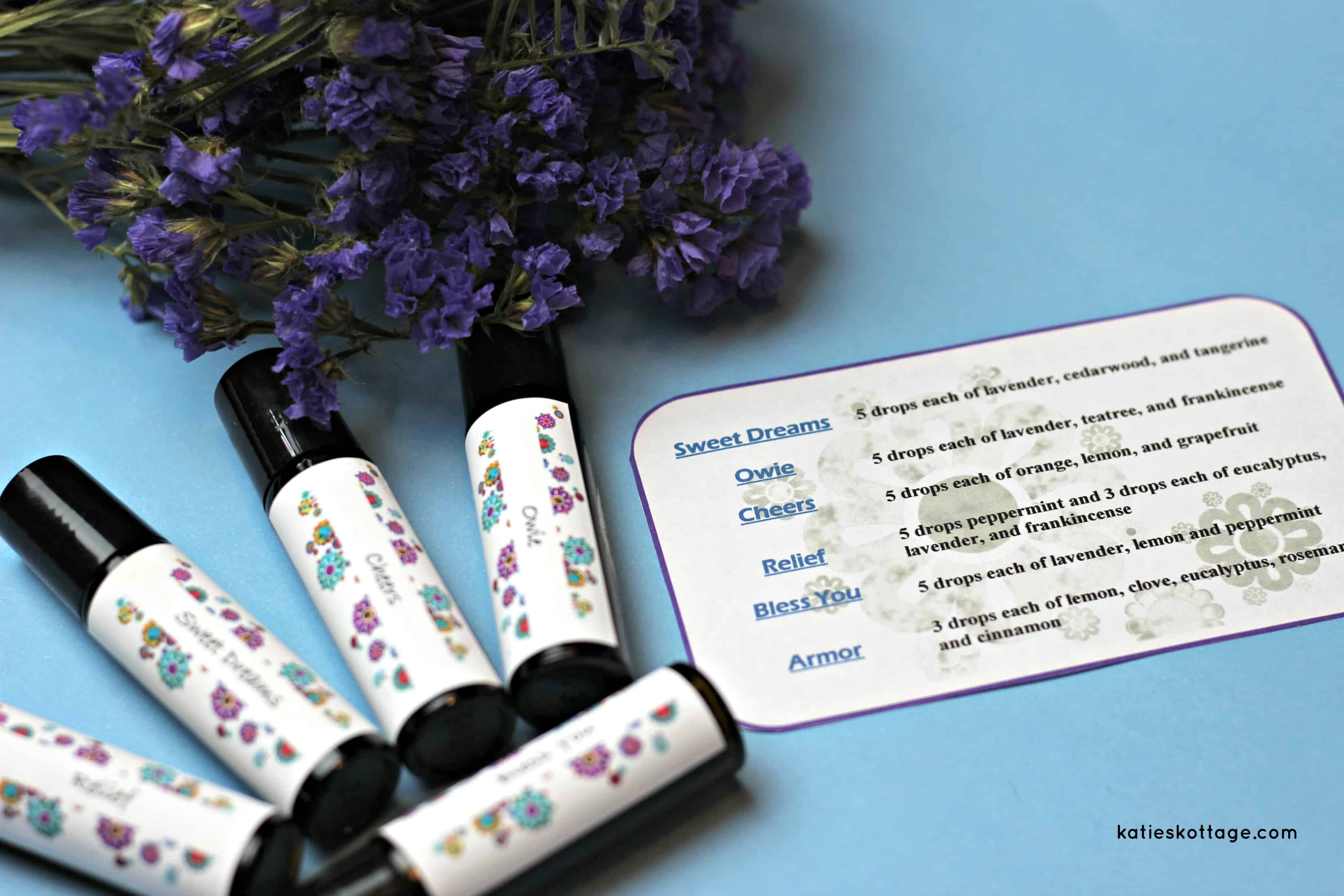 Roller Bottle Recipes With Free Printable Labels Katieskottage