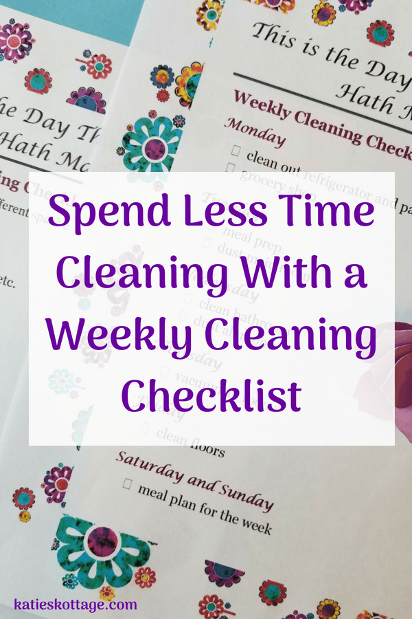 weekly cleaning routine with free printable checklist