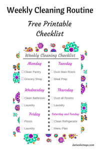 Weekly Cleaning Routine | Printable Cleaning Checklist