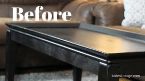 DIY farm house table before