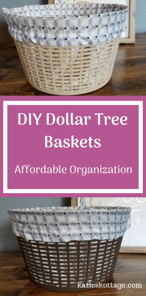 DIY Dollar Tree Baskets | Dollar Tree Organization Idea #diybaskets #dollartreediy