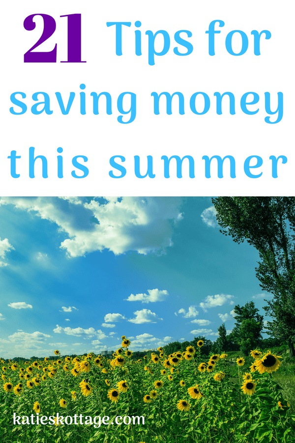 Tips for saving money this summer. #frugalsummer #moneysaving tips