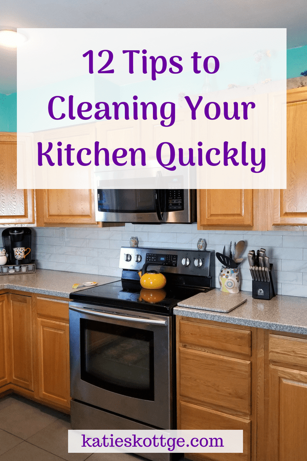 Kitchen cleaning tips, tricks, and hacks that will have your kitchen cleaned up fast #kitchencleaningtips #cleaningtips