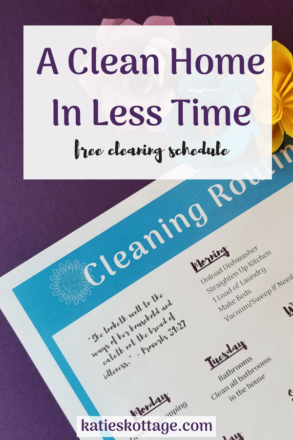 free cleaning schedule will help you clean your house fast