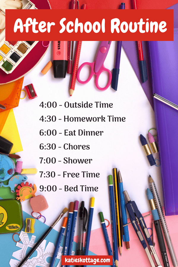 An after school routine is just one thing that should be on a back to school checklist for moms. #backtoschool #momlife #school