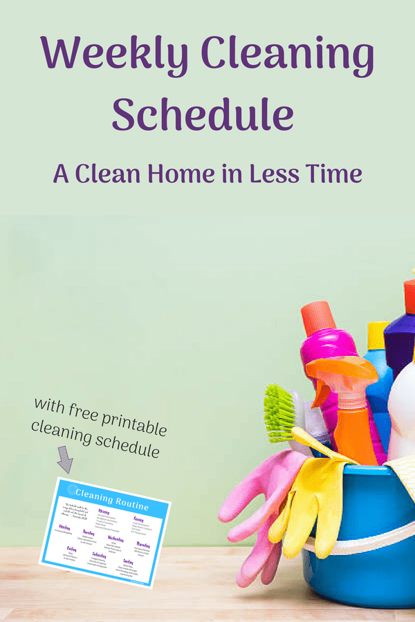image about Printable Cleaning Schedule for Working Moms known as Very simple Cleansing Timetable (with cleansing record