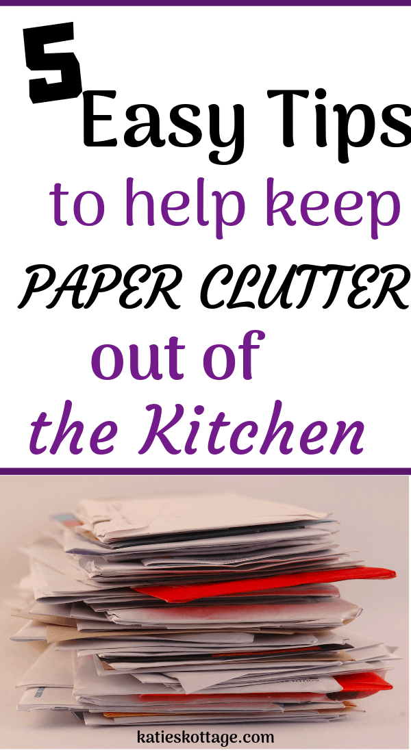 Solutions for your mail clutter and tips for keeping paper clutter off of your kitchen counters. #clutterfree #declutter #organization