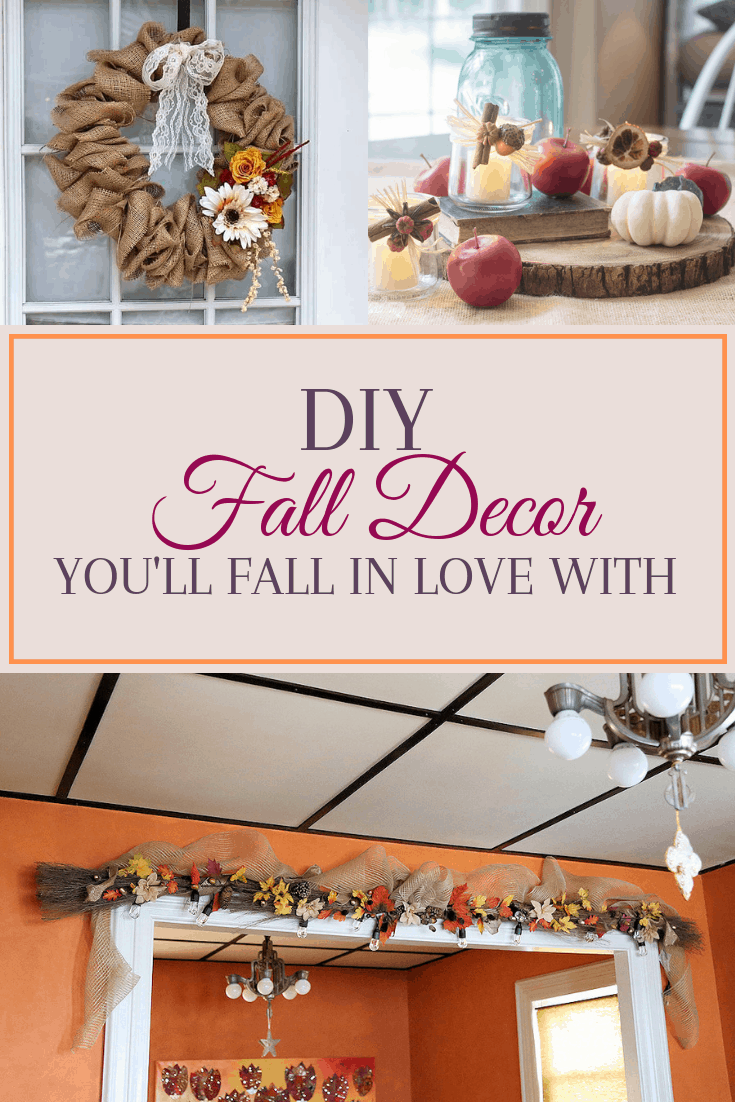 diy fall home decor, farmhouse and rustic style