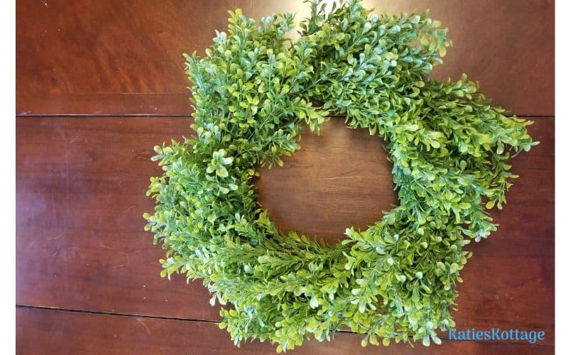 magnolia inspired wreath
