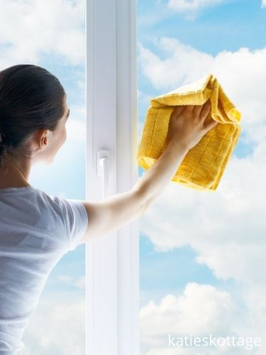 cleaning outside windows