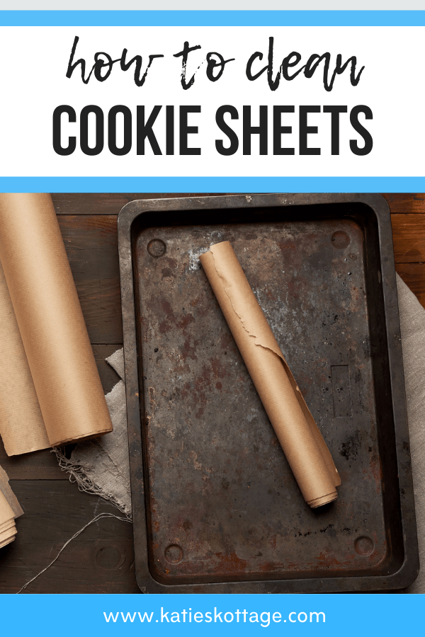 how to clean cookie sheets pinterest image