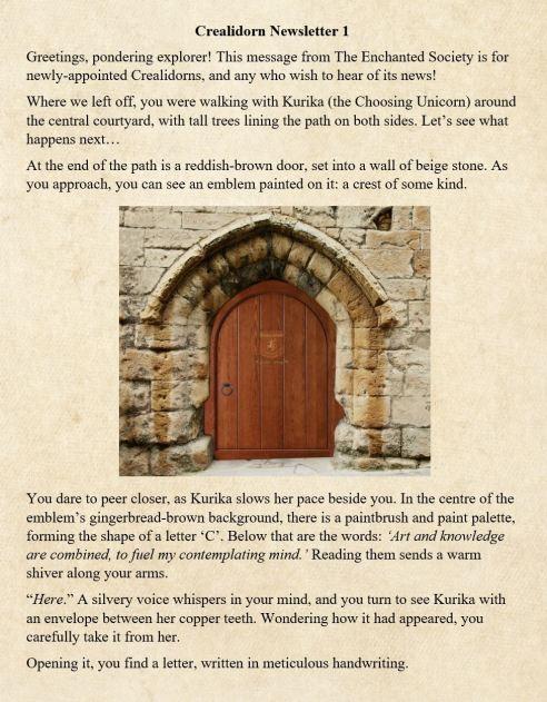 Crealidorn newsletter 1