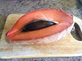mamey sapote cross section