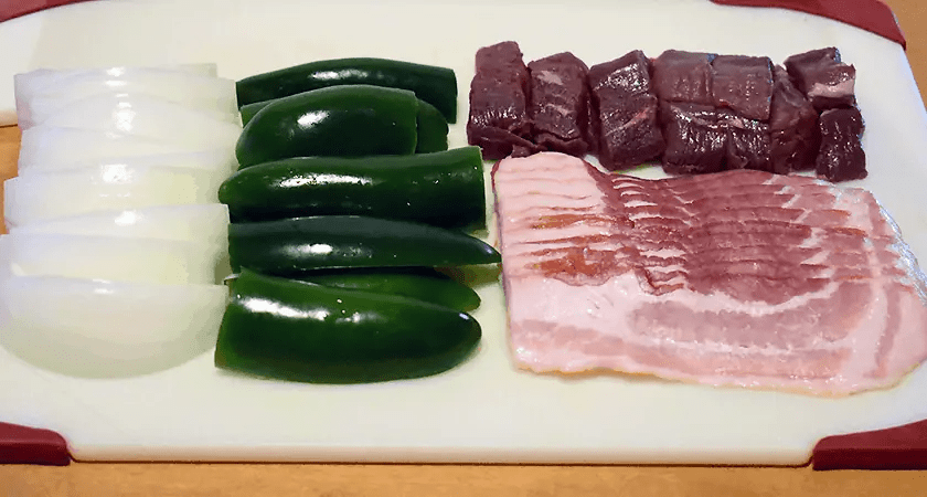 Chopped Ingredients for Venison Jalapenos