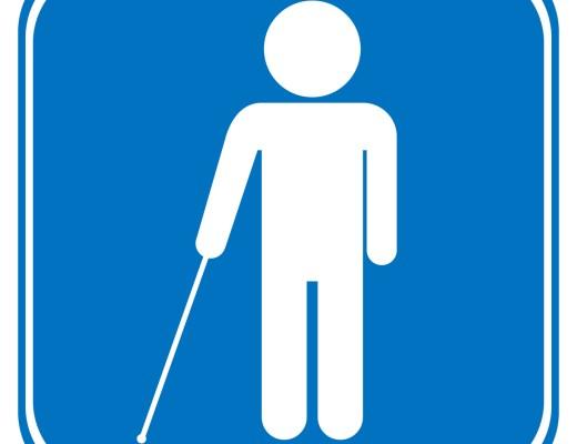Blind disabled sign on white background. Vector illustration.