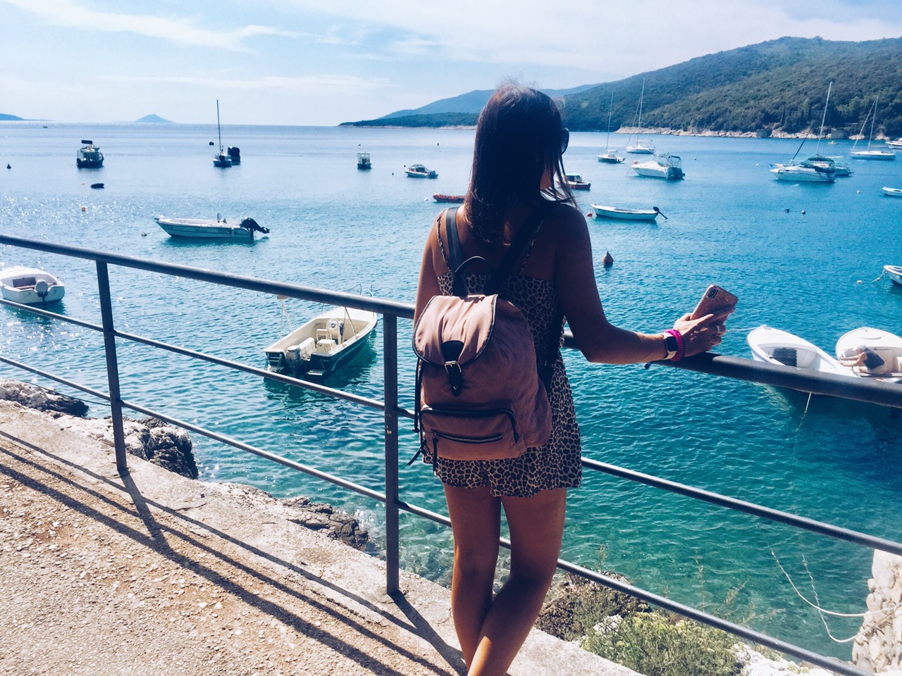 Me looking out at the beautiful view in Croatia.
