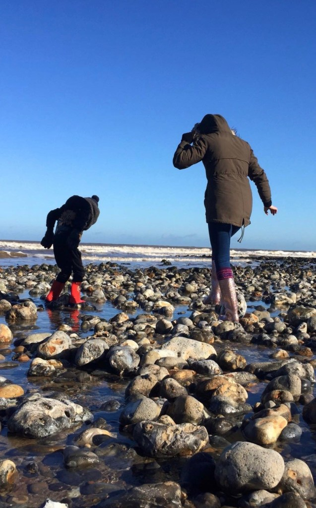 Me and my son rock pooling x