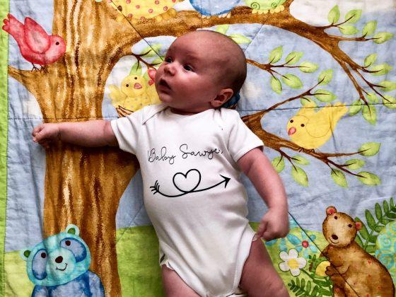 One Month Old Baby Sawyer xx