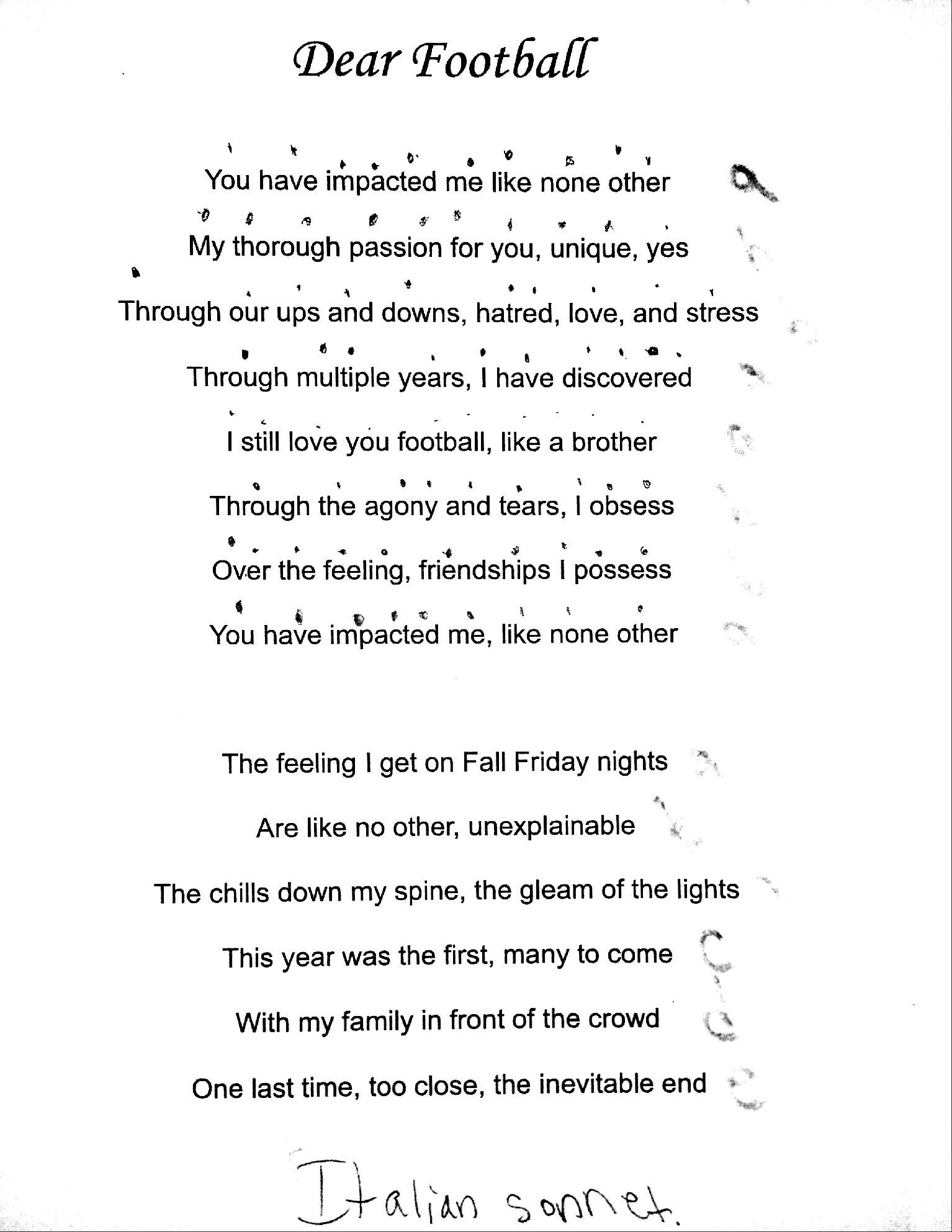 Student Sonnets