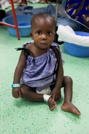 Samsdine recovers on D Ward following surgery to repair his cleft palate