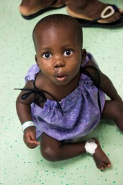 Samsdine recovers on D Ward following surgery to repair his cleft palate.