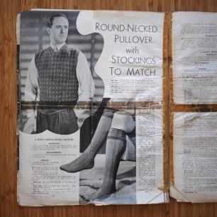 Now you know what you've been missing in life: socks to match your vest. On a side note, I love that long socks were called 'stockings' until quite recently.