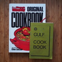 Every home needs a copy of the Australian Women's Weekly Original Cookbook. The 'GULF' cook book is a fantastic compilation of recipes by local ladies and includes a recipe for a snack known only as 'munchies'.