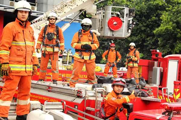 Ilustrasi pemadam kebakaran