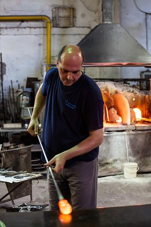Glassblower Murano, Venice © 2010 Nick Katin