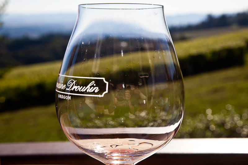 Winery tasting glass in Oregon, USA