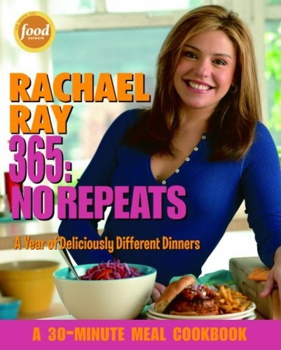 no repeats, rachel ray cookbook