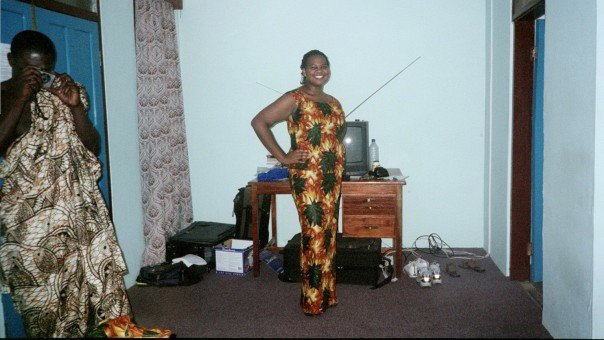 Me dressed in traditional Ghanaian attire