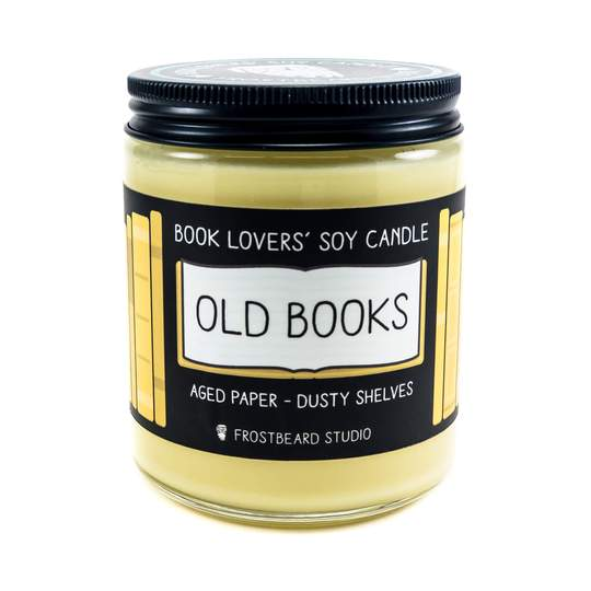 Book Lovers Old Books Soy Candle