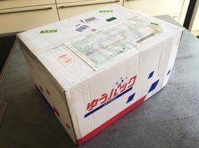 Paket mit japanischen Produkten per Post verschickt.