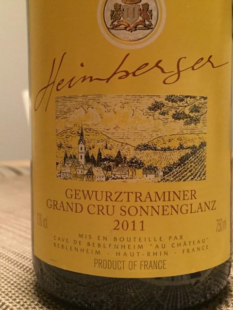 Heimberger Sonnenglanz Alsace Grand Cru Gewürztraminer 2011