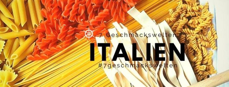 Banner der Blogparade: Die 7 Geschmackswelten, Italien