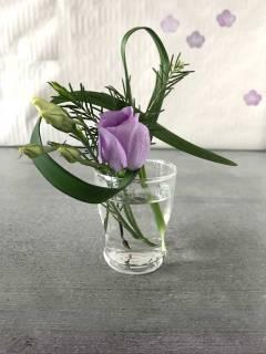 Mini-Ikebana als Tischdekoration