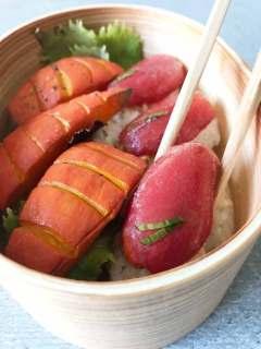 Tomaten-Sushi Bento