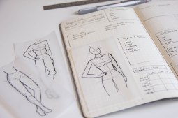 sewing planner croquis fashion sketches bullet journal