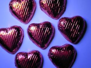 Valentine heart chocolates, via freeimages.co.uk